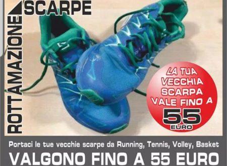 Ricordate la rottamazione delle scarpe da Sporting: per noi scarpe nuove ad un prezzo più basso e intanto facciamo una buona azione!!!